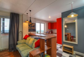 Уютная квартира на 23 этаже / Red Apple